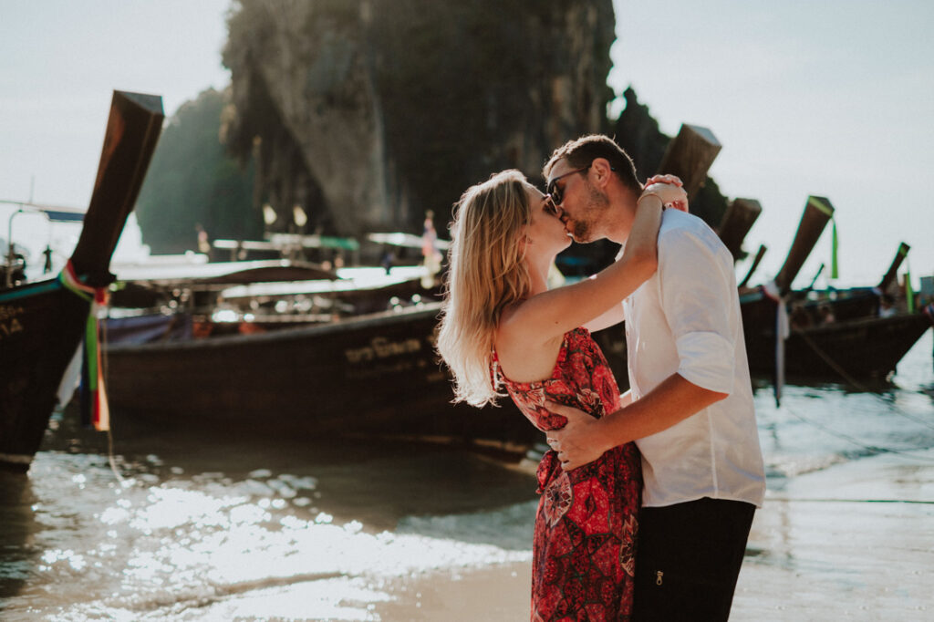 engagement session at railay beach