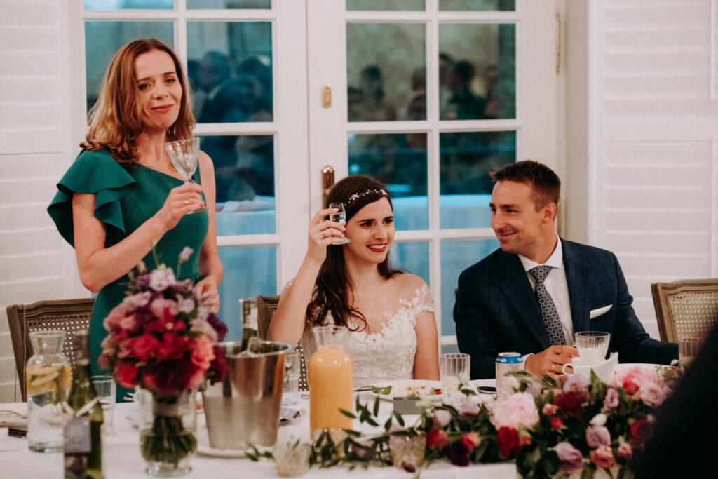 outdoor wedding in weranda home